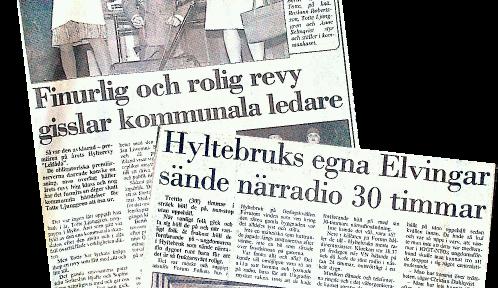 Pressklipp - Revy och närradio