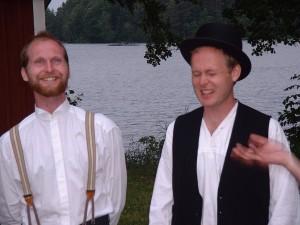 De båda vännerna Idor och Ingvar, spelade av Jörgen och Peter