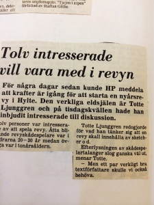 Start av Hylterevyn