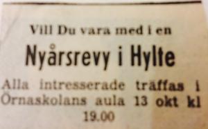 Annons Hylterevyn start