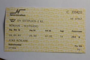 Lekomotiv 1991 biljett
